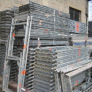 Used Scaffolding Layher / Assco / MJ about 98 m² with 3.07 steel decks Scaffolding