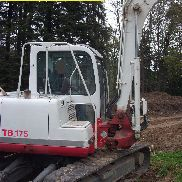 Compact excavator Takeuchi TB 175 Minibagger Bj.2009 approx. Operating hours