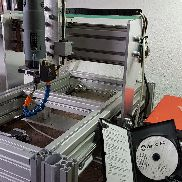 CNC portal milling machine, with control and milling spindle (laser or 3D printer conversion possible)