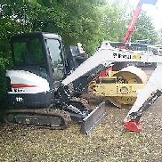 Bobcat mini excavators E32 BJ2015 top equipment with quick coupler