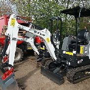 Bobcat mini excavators E17 BJ 2017 incl quick coupler and 3 spoons