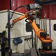 Robot KUKA KR 6/1 KRC1 with Fronius welding machine TPS 330 u. Rotational axis 7-axis robot