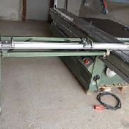 Outrigger table for Altendorf sliding table saw with support roller and crosscut