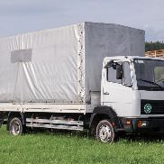 Mercedes Benz 814 Truck tarp cover EZ 1997 100 KW Authority vehicle 236tkm