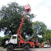 Unimog Hubsteiger lifting platform Platform for trucks and flatbed trucks