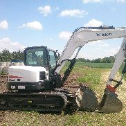 Bobcat crawler excavators E85 BJ2015 Identical Doosan DX85 with 100Bh Mint!