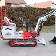 Demo mini excavator wheel excavator 94cm wide only 540kg hydraulic 25L 185bar
