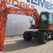 Doosan wheeled excavators DX 160 W-3 (1202), BJ: 2015, 650 hours.