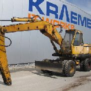 Hanomag wheeled excavators W 450 E, BJ: 1983, 18196 hours.