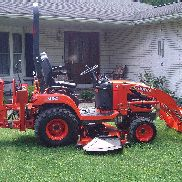 2015 Kubota BX25D WITH FRONT LOADER, BACKHOE, 60INCH MOWER ONLY 135 HRS WARRANTY