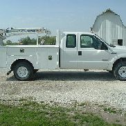 2004 Ford F350 Diesel SuperDuty 4x4 Service Truck With Crane