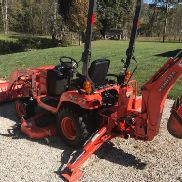 2010 KUBOTA BX25D TRACTOR LOADER BACKHOE, MOWER