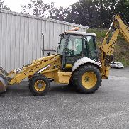 1998 FORD NEW HOLLAND 655E CLEAN LOW HOURS 4X4 BACKHOE WITH CAB, HEAT & A/C