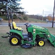 NICE JOHN DEERE 1023E 4 X 4 LOADER MOWER TRACTOR ONLY 168 HOURS