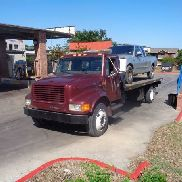 International Navistar 4700 Roll Back; 21ft Aluminium JERR * DAN HOLZBETT,