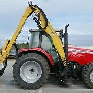 Massey Ferguson 5465 Tractor with 30' Alama Maverick side boom cutter