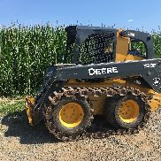 2014 John Deere 328E Skid Steer HighFlow / Over pneus, 845 heures VIDEO