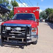 2009 FORD F-350 TYPE I AMBULANCE DIESEL 6.4L LED BLS STOCKED W/GENERATOR