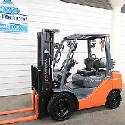 2014' Toyota 8FGU25, 5,000# Pneumatic Tire Forklift, LP Gas, 3 Stage, S/S, Nice