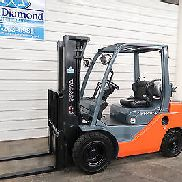 Toyota 8FGU25, 5,000# Pneumatic Tire Forklift, Dual Fuel, Triple S/S, 1,307 HRS!