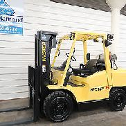 Hyster H90XMS, 9,000# Solid Pneumatic Tire Forklift, Triple, S/S, Low Hours!