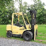 Hyster H80XM, DIESEL, 8,000# Pneumatic Tire Forklift, Dual Wheels, 3 stage S/S,