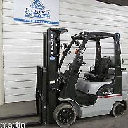 2012' Nissan CF50 5,000# Cushion Tire Forklift LPG 3 Stage, S/S, 7FGCU25, NICE!