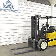 Yale GLP060, 6,000# Pneumatic Tire Forklift, Three Stage Mast, Sideshift, Low hr