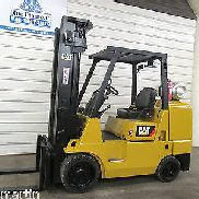 CAT GC45K, 10,000# Cushion Tire Forklift, LP Gas, Triple, Sideshift
