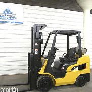 2010' CAT C6000, 6,000 lb Cushion Forklift, LP Gas, Three Stage Mast, S/S