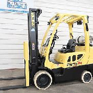 2006 Hyster S60FT, 6,000# Cushion Tire Forklift, Three Stage Mast, 4 Way Hyd. SS