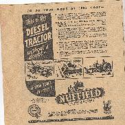 Nuffield Universal Tractor Advertisement removed from at Australian Newspaper