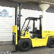 Hyster H135XL, 13,500# DIESEL Pneumatic Tire Forklift, 2 Stage, 3 Way, H155XL