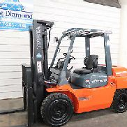 2012 Toyota Forklift, 7FDU35, 8,000# Pneumatic, DIESEL, Three Stage, Sideshift