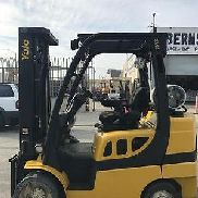 2011 Yale GLC070VXNGSE088 CUSHION TIRE FORKLIFT - USED (B4737)