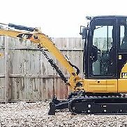 1 Owner 2013 Caterpillar 303.5E CR Mini Track Excavator CAB HEAT AIR AUX HYD CAT