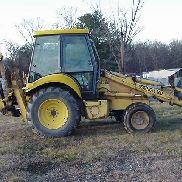2000 Ford 675E 4 Wheel drive Backhoe Loader Extendahoe Cab Machine