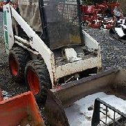 1987 Bobcat 643 Diesel Skid Steer Loader w / Cab. Coming In Bald!