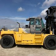 55,000LB 2015 HYUNDAI 250D-9 ENCLOSED CAB FORKLIFT - MAST BACKUP CAMERA AC HEAT