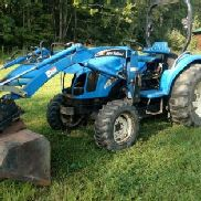 New Holland TC35 4x4 Loader Backhoe Tractor Bundle Attachments TC 35 Bobcat