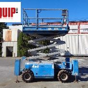 Genie 3268RT Rough Terrain 4x4 Scissor Man Aerial Boom Lift - Outriggers