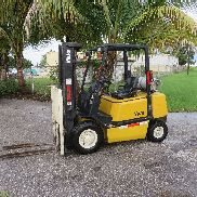 Yale GLPO50 5000LB Forklift Pneumatic Tires Automatic Propane Side Shift 1041 Hr