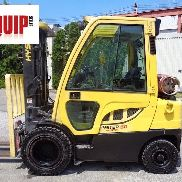 2012 Hyster H50FT Forklift Boom Truck - Side Shift - Triple Mast - Enclosed Cab