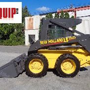 New Holland LS150 Wheel Skid Steer Loader - Enclosed Cab - Heat - Aux Hydraulics