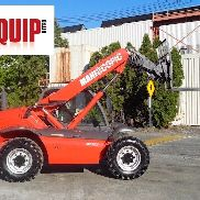 Manitou MT523 5,000 lbs Telescopic Forklift - Auxiliary Hyd - 3 Way Steering