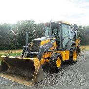 John Deere 310SG Tractor Loader Backhoe, 4x4, Cab, Ext Hoe, Only 5321 Hours,