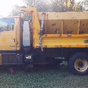 2002 Sterling L7500 10ft Dump Truck w/ Spreader & Belly Plow Automatic Trans