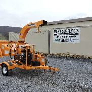"2008 Bandit 65XP Wood Chipper 6 ""Self Feed 80 FPM Cepillo remolcable 35 HP Gas VIDEO!"