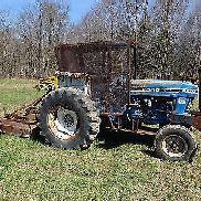 Ford 6610 Traktor & Brush Hog NICE LÄUFT EXC VIDEO! LOW HOURS DSL New Holland