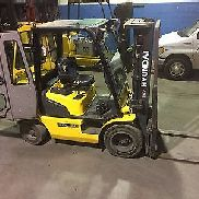 2014 HYUNDAI 30D-7E OUTDOOR DIESEL FORKLIFT 6,000 LBS CAP 3 STAGE W/SIDE SHIFT